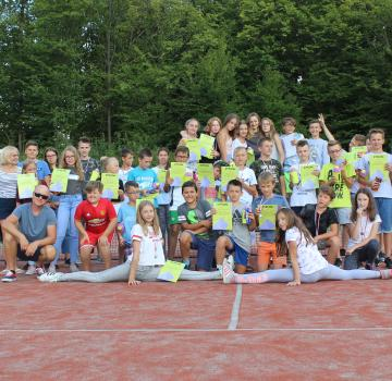 Obóz tenisowo-taneczny w Hucisku 2018
